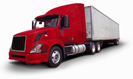 stock photo of tractor-trailer  - Big Rig - JPG