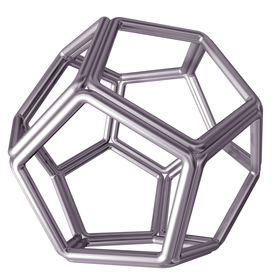 foto of dodecahedron  - Original isolated illustration of a tubular steel dodecahedron - JPG