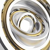 foto of friction  - Isolated realistic whirling bearing in the bearing with light scratches on a white background - JPG