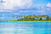 pic of deserted island  - Perfect beach with turquoise water at ideal island - JPG