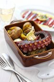 stock photo of batata  - grilled octopus with potatoes - JPG