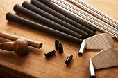 picture of work bench  - Golf club making - JPG