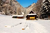 picture of pieniny  - Wooden house in the mountains Three Crowns Pieniny Mountains Poland - JPG