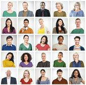 stock photo of diversity  - Community Diversity Group Headshot People Concept - JPG