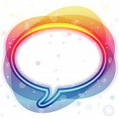 Vector - Rainbow Neon Lights Speech Bubble