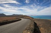 stock photo of canary-islands  - Volcanic landscape of the island of Lanzarote Canary Islands Spain - JPG