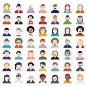 foto of diversity  - People Diversity Portrait Design Characters Avatar Vector - JPG