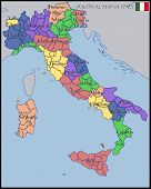 picture of political map  - Illustration of a Political Map of Italy - JPG