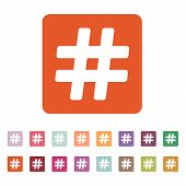 stock photo of hashtag  - The hash icon - JPG