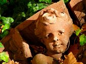 Architectural Detail Of Fallen Cherub