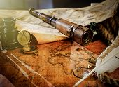 Travel Geography Navigation Concept Background. poster