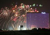 Atlantic city New Jersey - 4 de julho feriado festa no Borgata Hotel and Casino