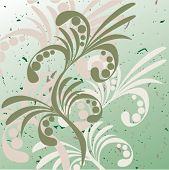 Abstract floral background. Vector.