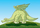 Brontosaurus. Vector illustration.