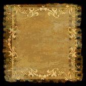 Decorative Border Frame Grunge Gold