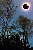 Amazing Scientific Natural Phenomenon. Total Solar Eclipse Glowing On Sky. poster