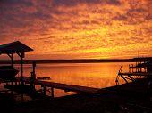 Brilliant Orange Sunset on Seneca Lake
