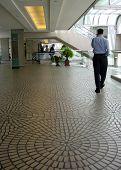 Man Walk At The Mall