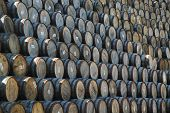 Stacked Whisky Barrels