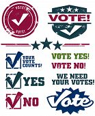 Voting Rubber Stamps