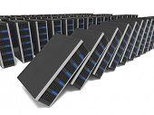 imagem 3D de lotes do servidor cair