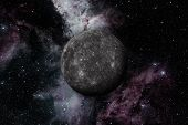 Planet Mercury. Outer Space Background. poster
