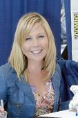 SAN DIEGO, CA - JULY 22: Gigi Edgley signing autographs in the autograph area on July 22, 2010 at th