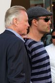 LOS ANGELES - JUL 19:  Jon Voight & son James Haver arrive at the