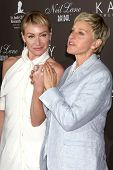 LOS ANGELES - JUL 22:  Portia DeRossi & Ellen DeGeneres arrives at the Neil Lane Bridal Collection Debut at Drai's at The W Hollywood Rooftop on July22, 2010 in Los Angeles, CA ....