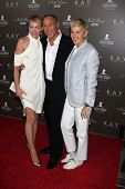 LOS ANGELES - JUL 22:  Portia DeRossi, Neil Lane & Ellen DeGeneres arrives at the Neil Lane Bridal C