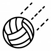 Volleyball Ball In Flight Icon. Outline Volleyball Ball In Flight Vector Icon For Web Design Isolate poster