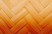 texture of wicker cane baskets macro