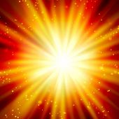 shining rays and stars of glare  on a  background