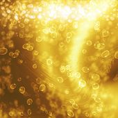 champagne bubbles on a golden background