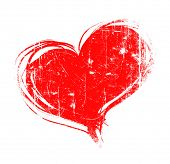 picture of hand heart  - red heart - JPG