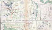 Map Of Battles Of Fredericksburg, Murfreesborough
