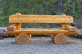 Cute Bench In Yoho National Park, Canada.