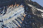 Cougar releasing flares