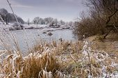 stock photo of tyne  - Cold winter morning on the banks of the river Tyne - JPG