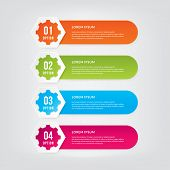 Info-graphic Design Elements With Numbers. Info-graphic Design Vector For Work-flow Layout, Diagram, poster