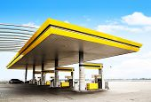 foto of truck-stop  - Gas station - JPG