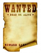 Vintage cartel de wanted