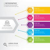 Time-line Info-graphics Design Vector. Info-graphic Design Vector And Marketing Icons For Work-flow  poster