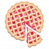 Cherry pie and slice