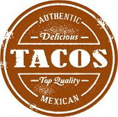 Authentic Vintage Style Taco Stamp