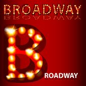 An image of a theatrical lights Broadway text.