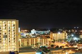 View of Daytona, Florida at night