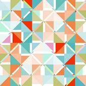 Abstract colored retro vector background.