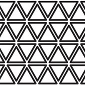 Retro rhythmic triangle pattern.
