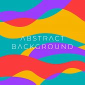 Colorful Wavy Abstract Background. Dynamic Curly Color Waves poster